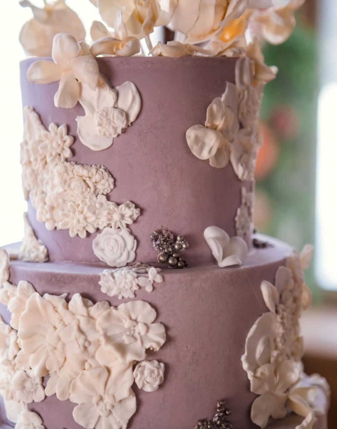 Purple wedding cake: Bohemian wedding inspiration captured by Truly Sublime Photography. See more boho wedding ideas on CHItheeWED.com!