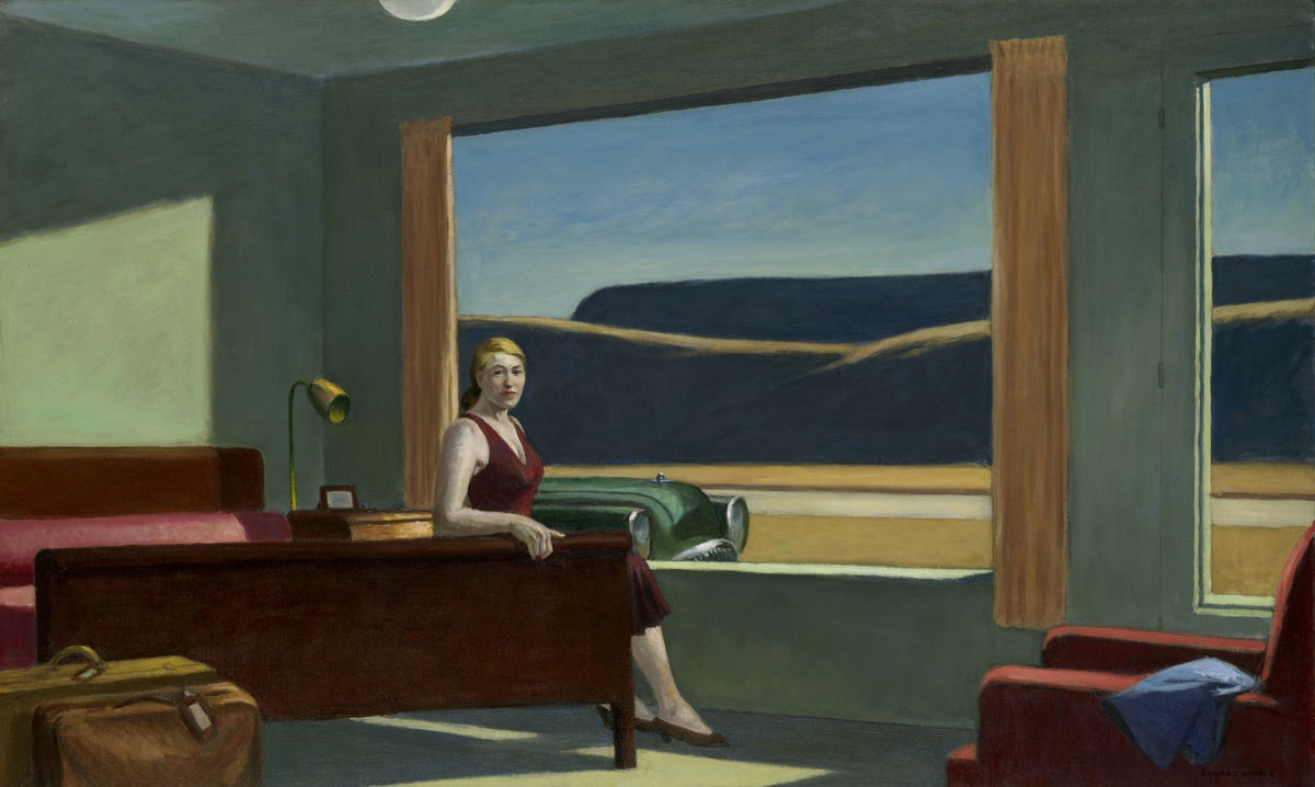 "Edward Hopper, ""Western Motel"", 1957."