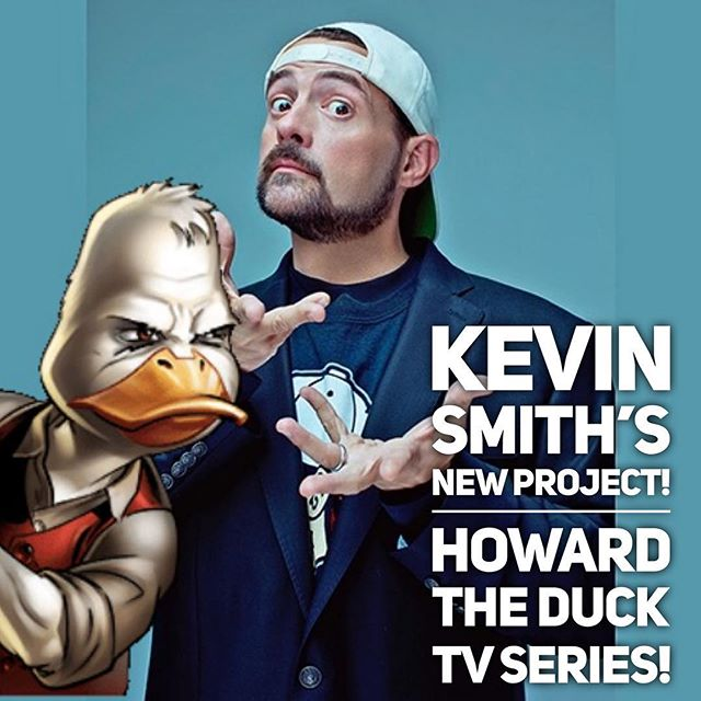 Kevin Smith will be writing and producing the Adult Animated tv series Howard the Duck, that is coming to Exclusively to Hulu! #howardtheduck #hulu #tvseries #marvel #marvelcomics #kevinsmith #adultanimation #geeks #nerds #nerdtv #series #comicbooks #comics