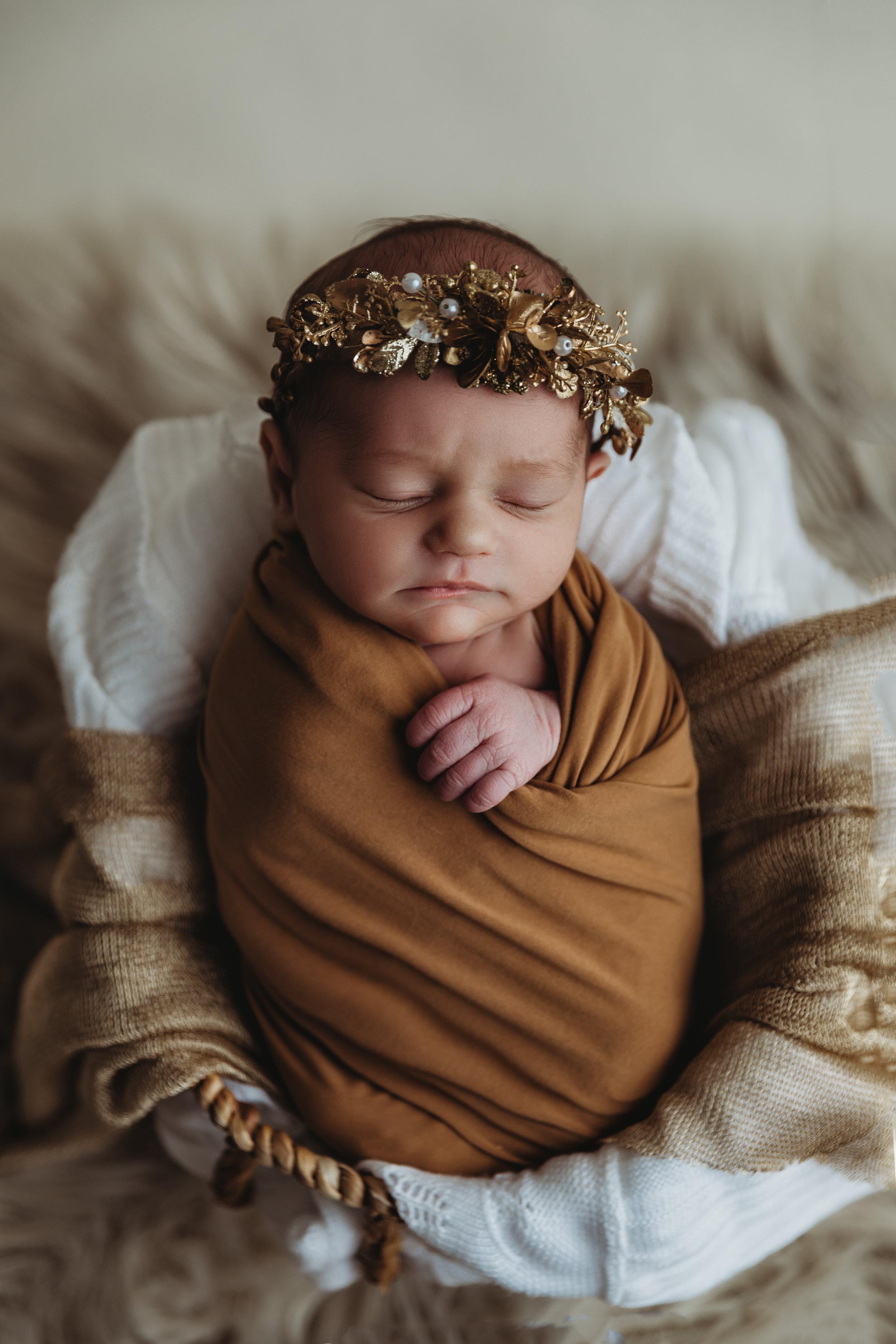 newborn-photography-austin-minnesota-studio-albert-lea-minnesota-gold-modern-bucket-pose