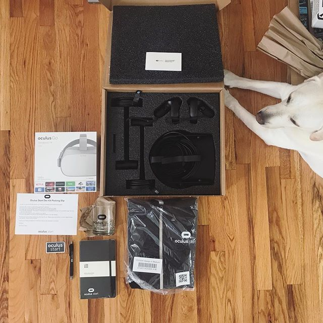 #oculusStart mystery box has finally arrived! #oculusRift #oculusGo #mixedReality #VR #virtualReality