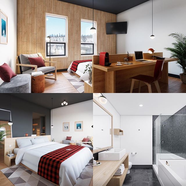 Revealing our modern Yukon cabin inspired suites open this winter #boutiquehotel #new #construction #hotel #yukon #whitehorse #travelyukon