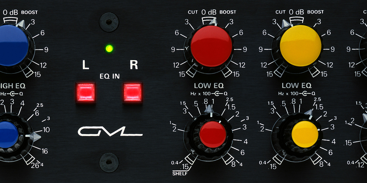 PARAMETRIC EQUALIZERS:  The legendary GML8200 EQ - peerless accuracy.