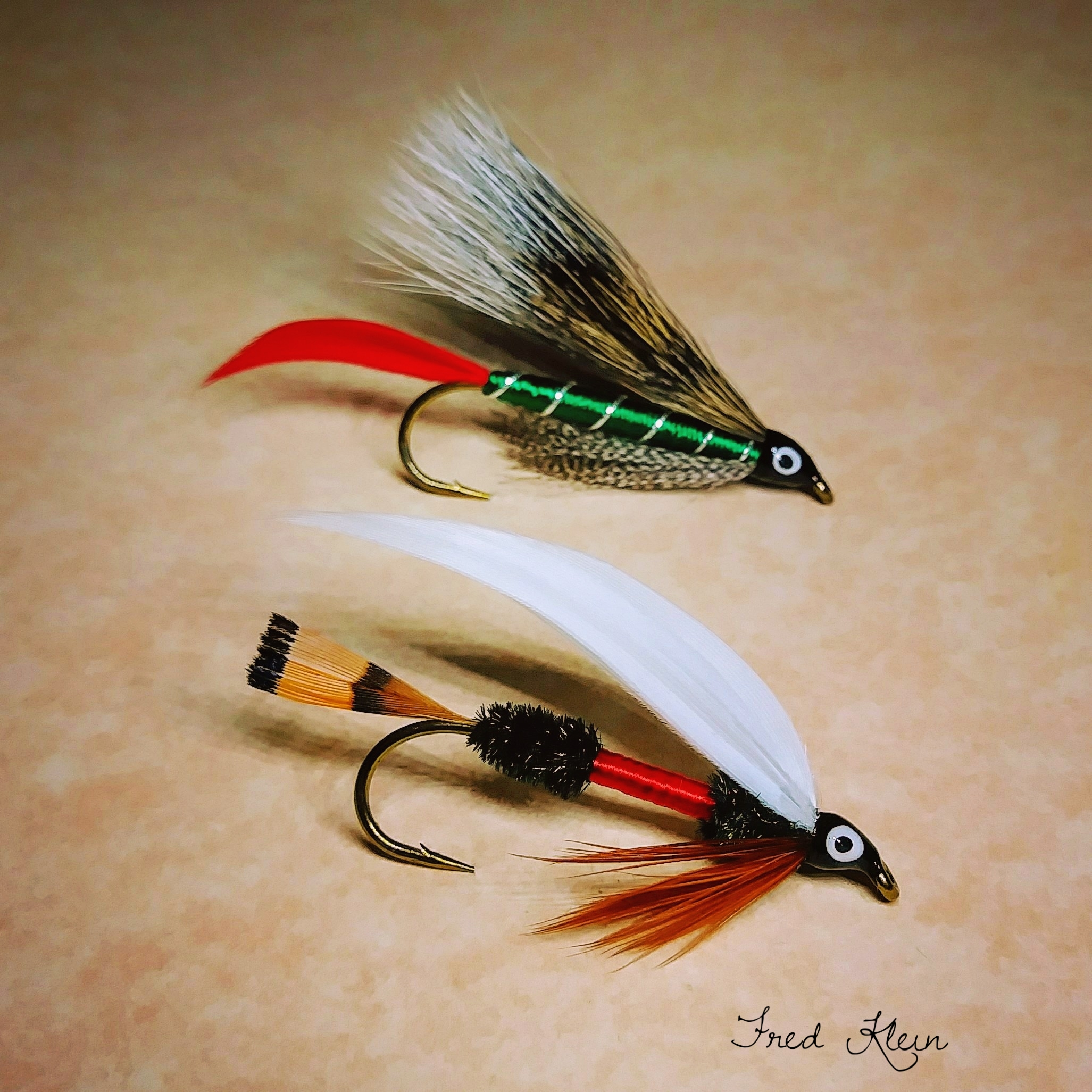 6 and 8 Grizzly King Streamer Trout Fly Sizes 4