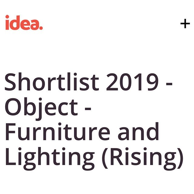 It's was great to wake up to the news that we have been shortlisted in the idea awards. : The Interior Design Excellence Awards (IDEA) is Australia's largest and most successful independent design awards program. : We are in the Rising furniture and lighting category! : Wish us luck! #ideaawards2019