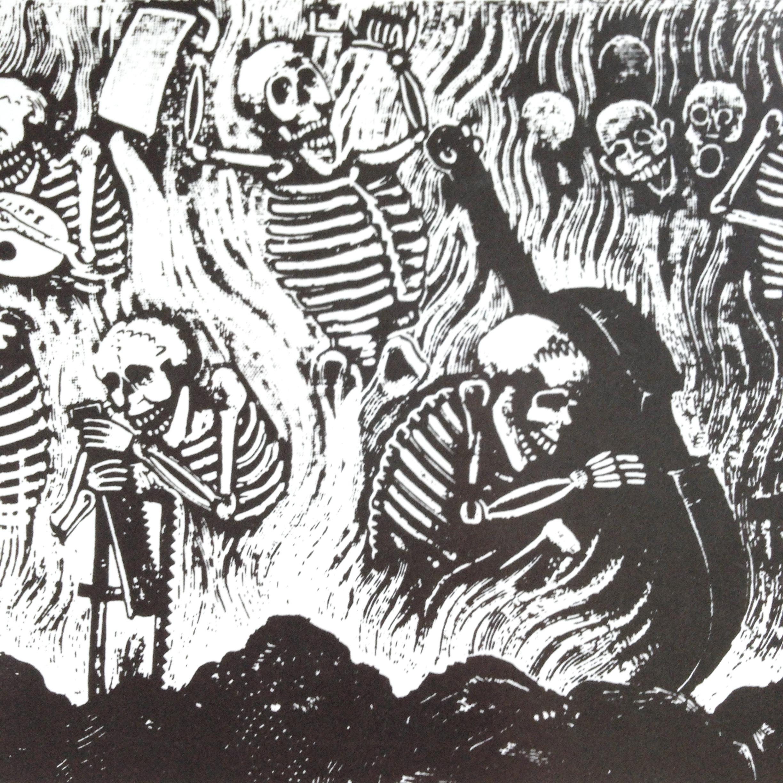 "Detail from ""Calaveras de los Peregrinos"" (Skeletons of the Pilgrims), by Jose Guadalupe Posada"