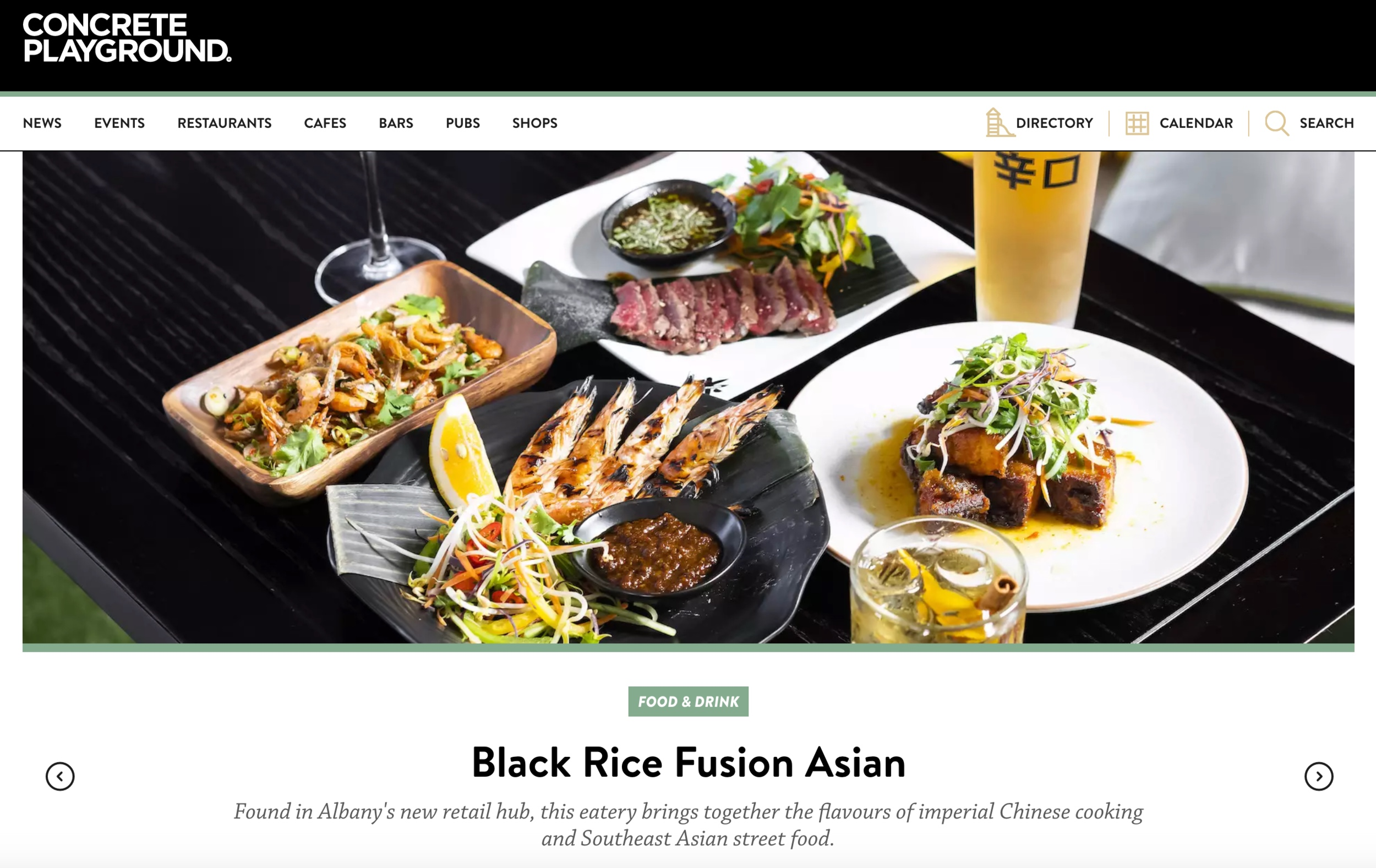Concrete Playground review Black Rice Restaurant