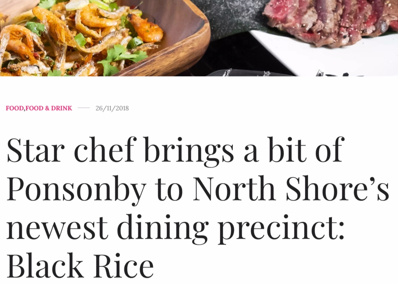 Auckland Magazine review Black Rice Restaurant