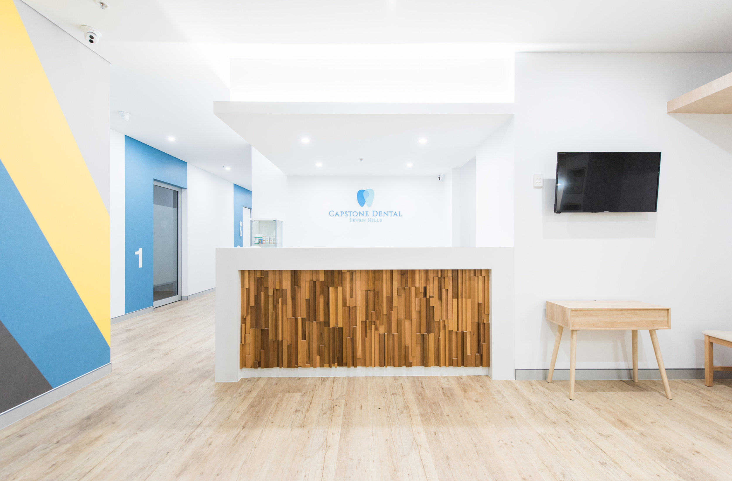 Capstone Dental TV Waiting Room