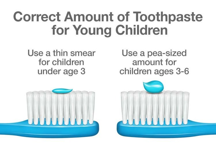How much toothpaste to use