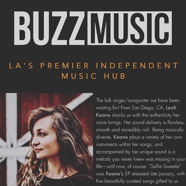 Thank you @buzzmusicla for the feature and amazing article about my new song The Way! Im so thrilled to share it with everyone!  If you're interested in reading the article and interview I did for Buzz Music click the link in my bio!