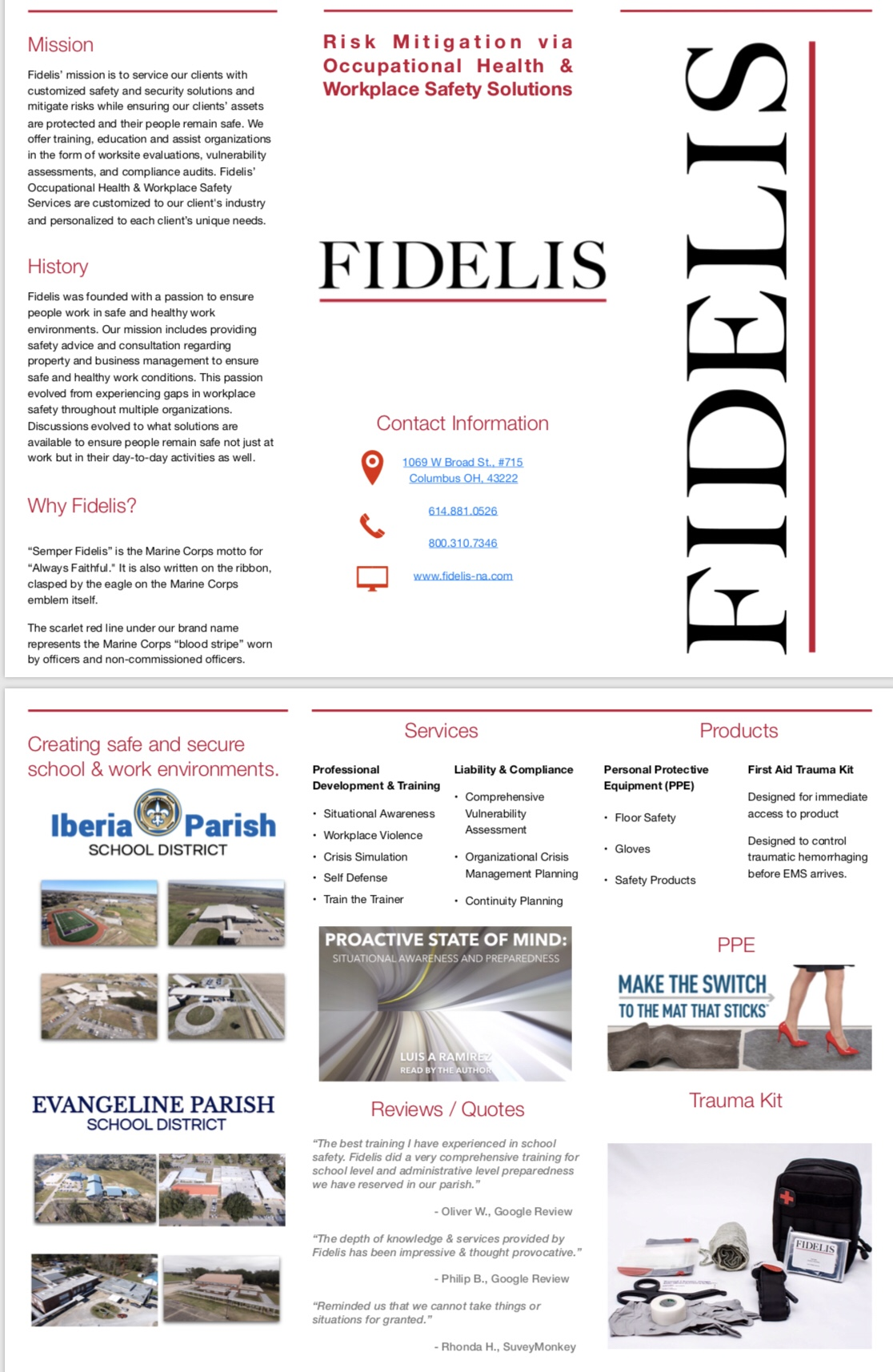 Download our brochure - Fidelis NA, LLC