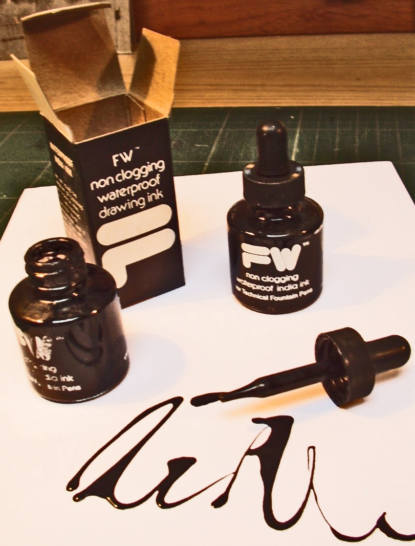 All images are done in India ink with the stopper from an ink bottle. -