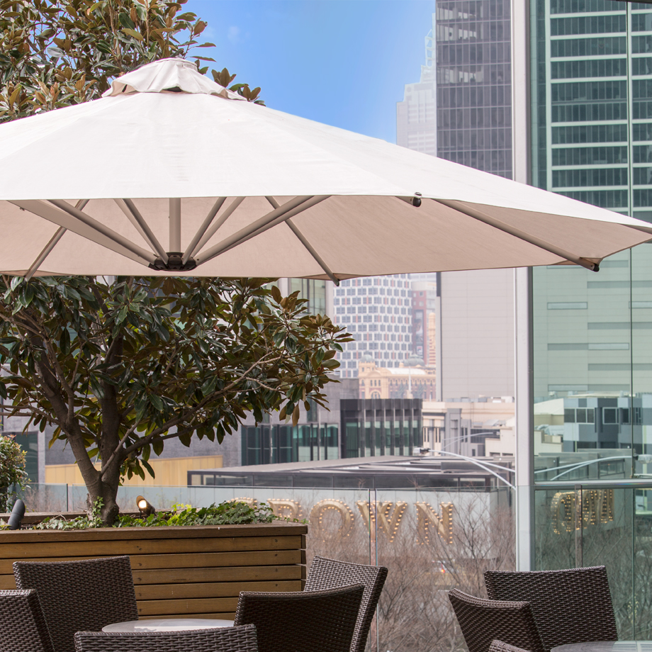 Canopy - -100% Solution Dyed Acrylic Canvas –Recacril by Recasens – the best outdoor fabric on the market.-98.75% UV resistant (UPF80)-Can be washed at 40 degrees – no harsh chemicals needed.-Water repellent.-Industry leading 10 year warranty against fading.