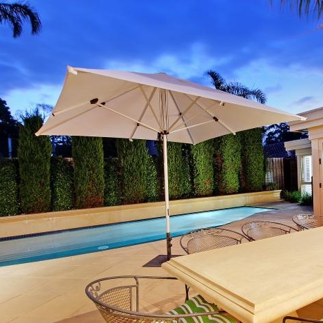 Mechanics - -Easy-action Rope & Pin mechanism makes closing and opening this umbrella a breeze.-Movable bases with no installation required.-Installation options available.