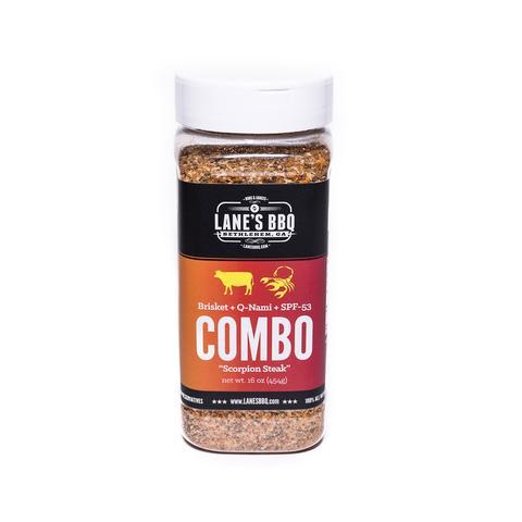 Lanes BBQ Scorpion Combo    Brisket, Q Nami, SPF 53   $38.00