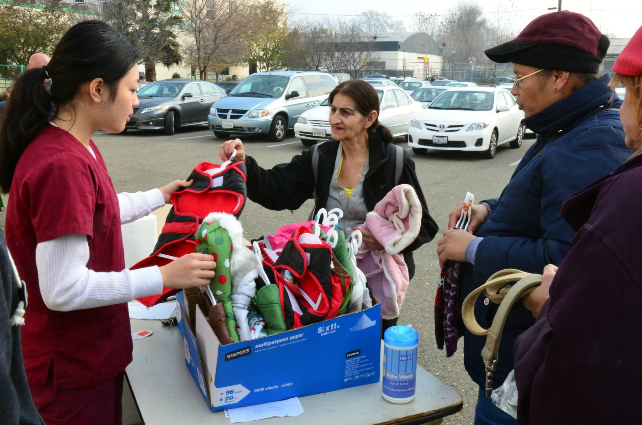 The Mercer Clinic for the Pets of the Homeless Holiday Pet Baskets and Winter Coats Gift Program