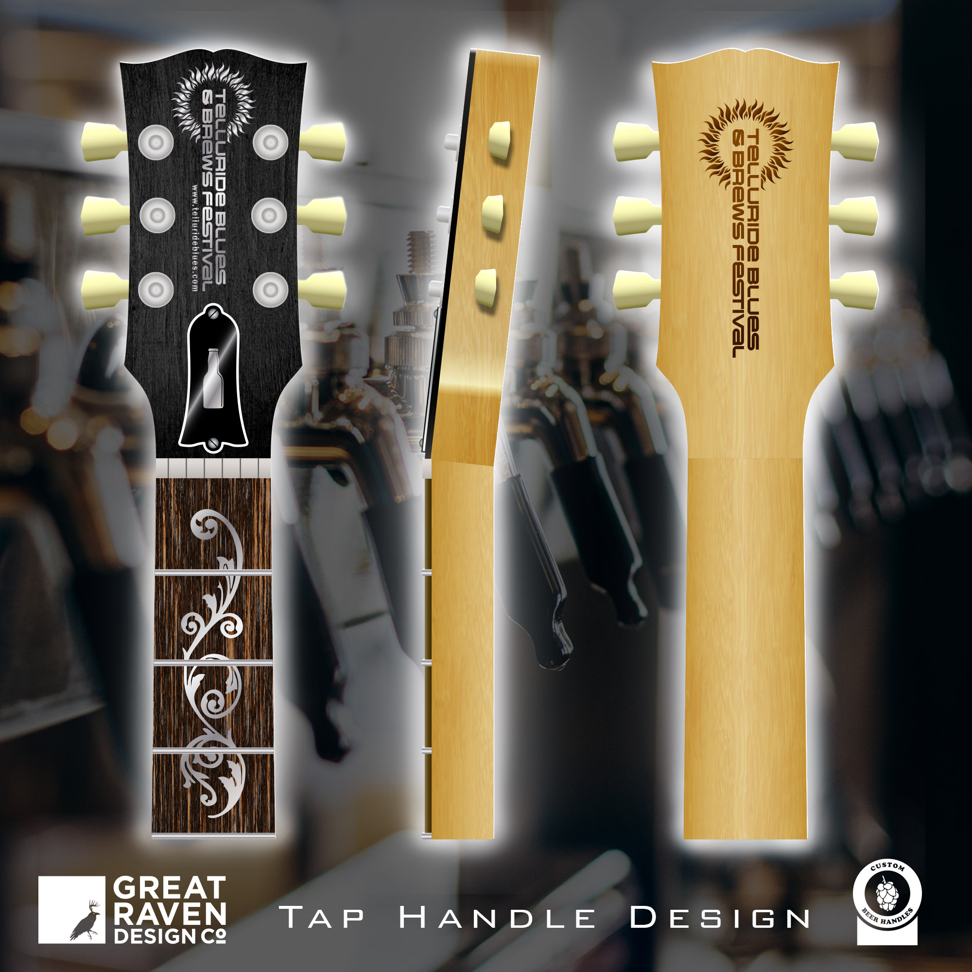 Breweries Services Cover_Telluride Blues and Brews Tap Handle Design_Guitar Neck_Filagree.jpg