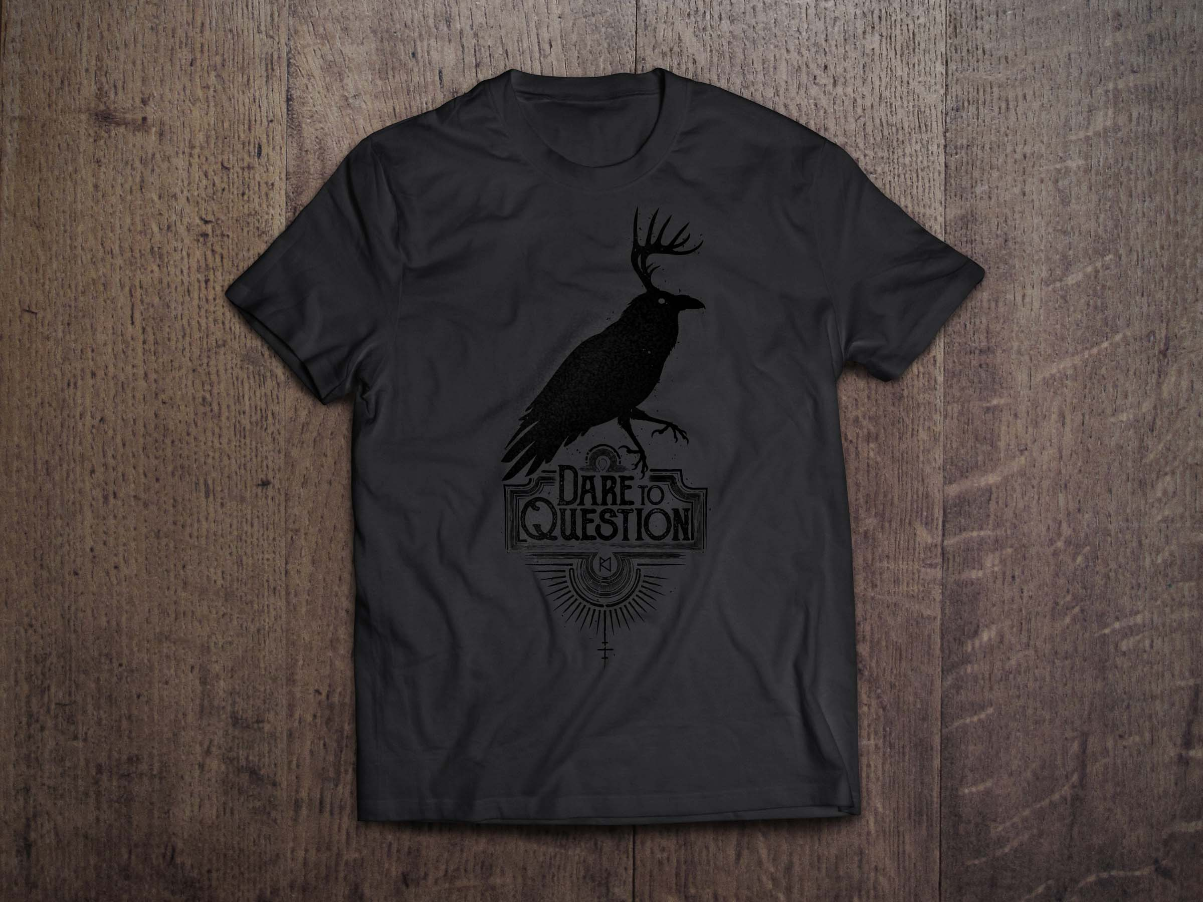 DTQ Black on Black T-Shirt MockUp Wood BG_web.jpg