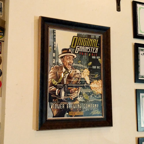 Find the signed copy hanging at Tower Brewing in Sacramento, CA!