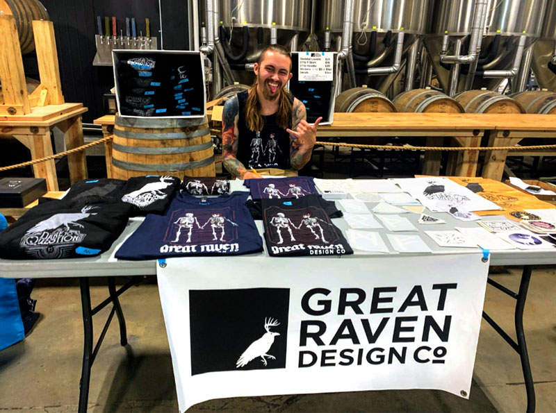 Kilian Slingin' some GRDC merch at Urban Roots Brewing