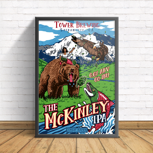 TOWER'S THE MCKINLEY IPA POSTER