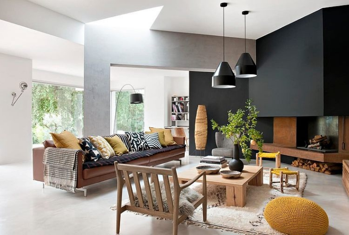 black and yellow home decor ideas