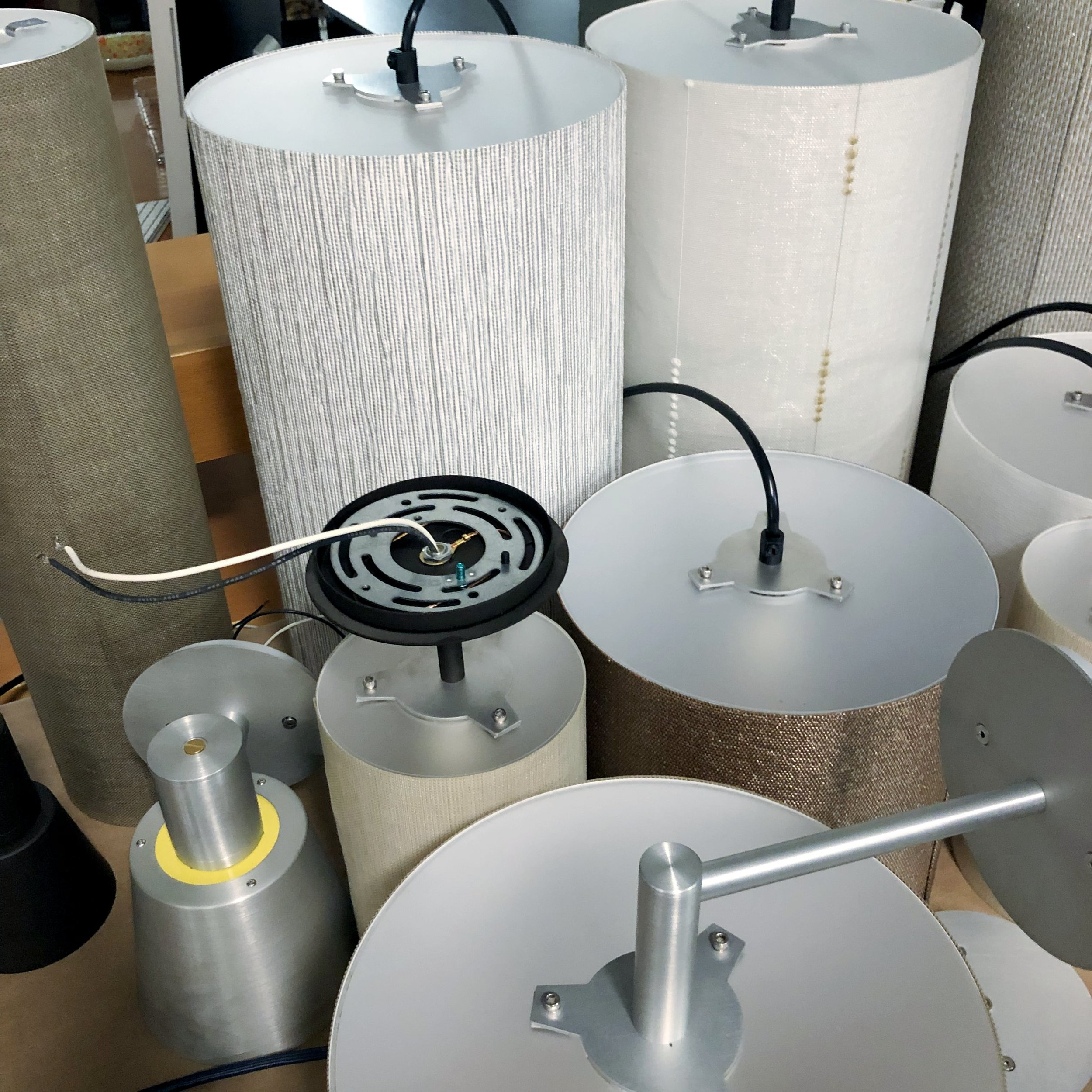 …we paid visits to lots of showrooms including this cool local custom light maker