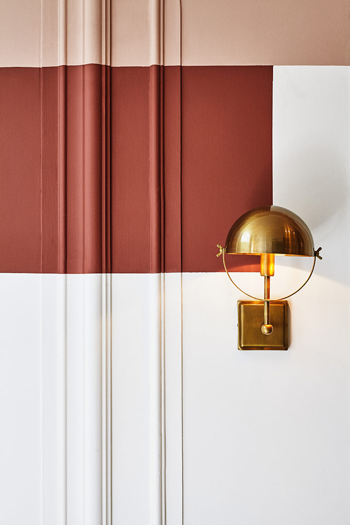 brick red wall paint ideas