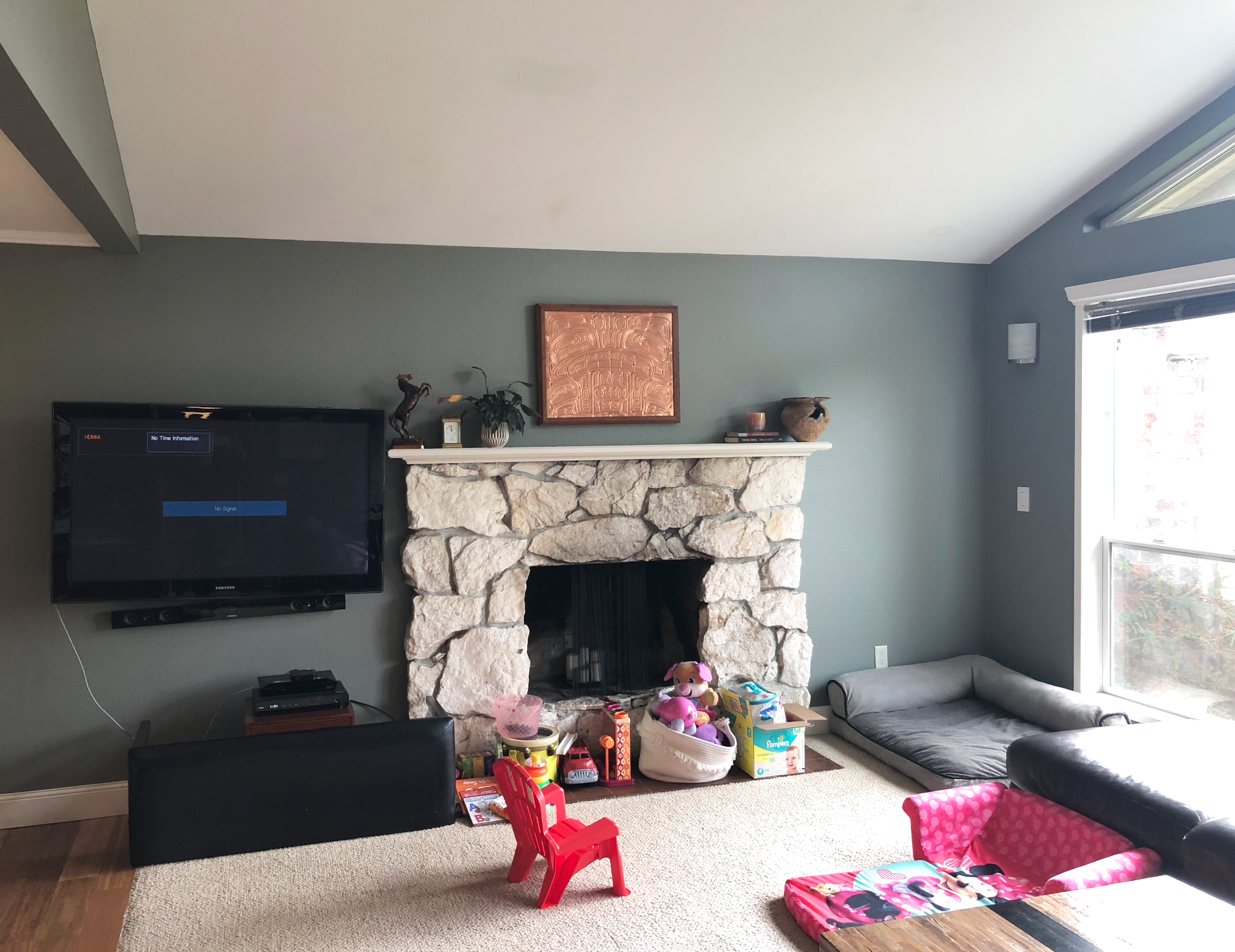 Before and after photos living room Bothell WA