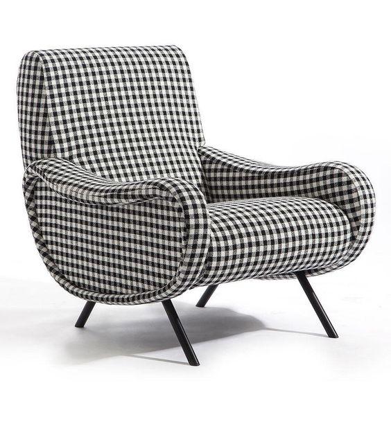modern pattern armchair