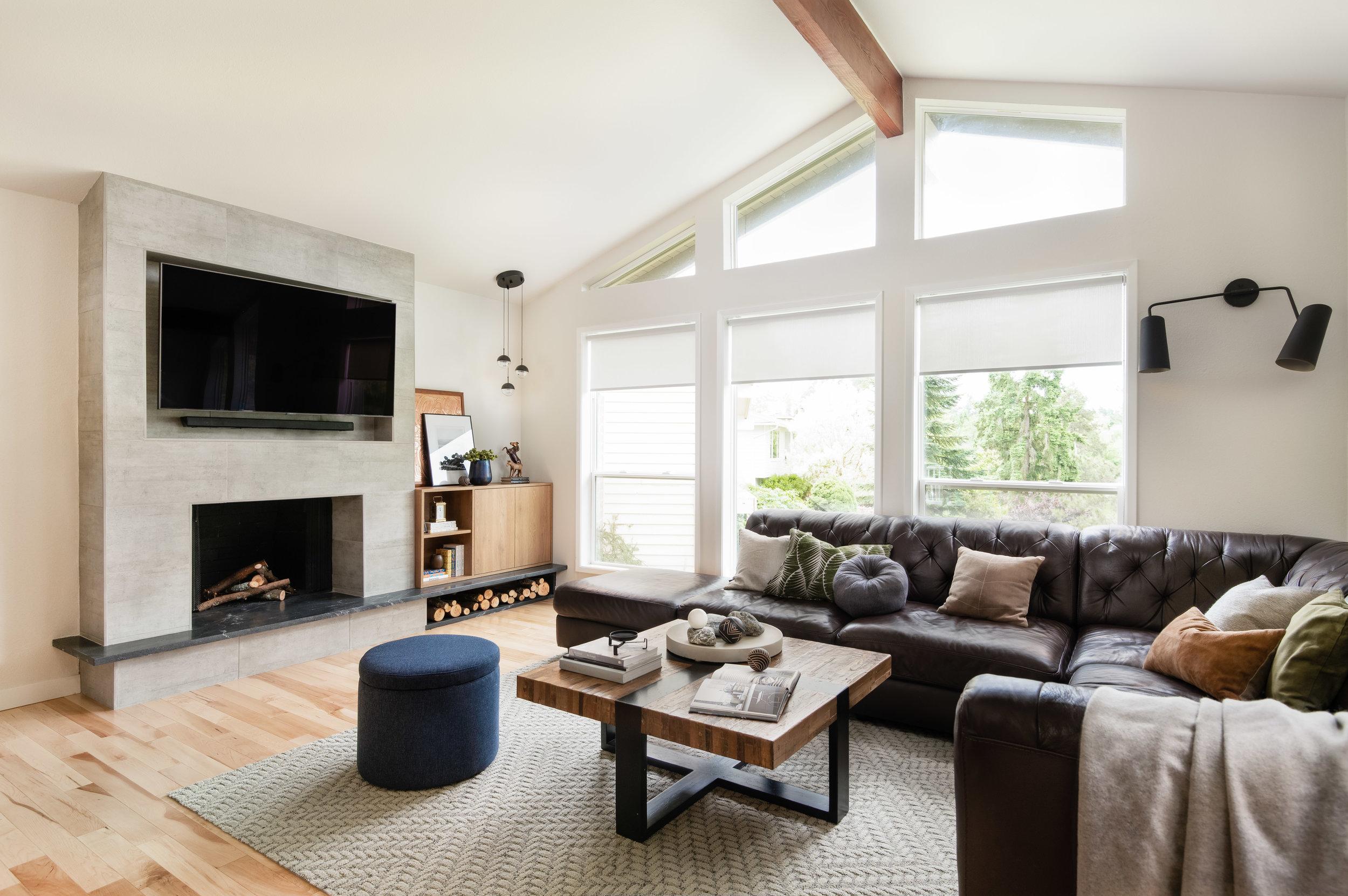 modern living room design seattle