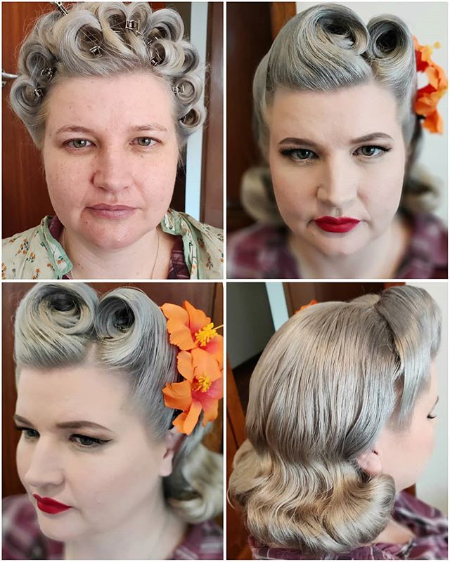 Vintage makeover for the gorgeous Sara for her bridal trial! I love connecting with other women through our love of vintage, and usually other nerdy interests as well! Excited for this wedding! 💖💖💖 #bridaltrial #wedding #bride #bridal #vintagebride #pinupbride #vintagewedding #pinupwedding #pinup #vintage #makeup #makeupartist #hmua #pinuphair #vintagehair #hairstylist #hair #hairgoals #promakeup #makeupguru #makeupaddict #makeuponpoint #makeuponfleek #sydney #Australia #mualife #makeuplife
