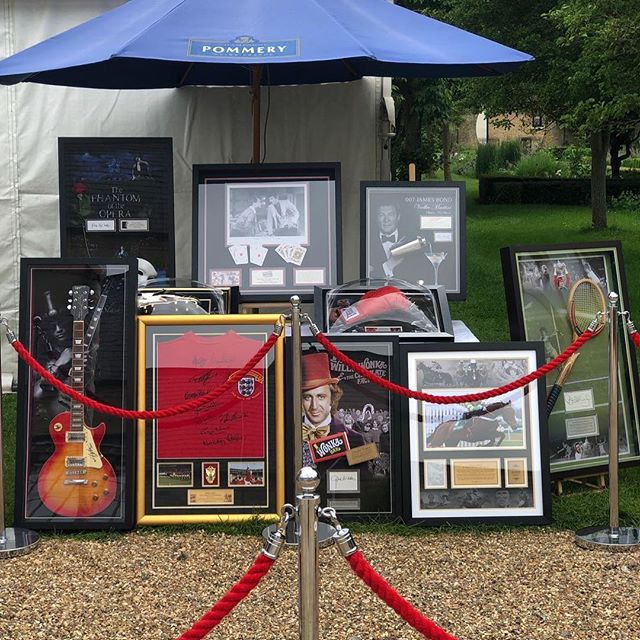 We have a fantastic array of auction items for any charity event.  Tonight we're supporting Hilton Food Group in aid of @cureparkinsonstrust with some awesome memorabilia.  Which one would you choose? 🎬🎼🎭🎸 #fundraising #fundraiser #event #events #enjoygivingsomethingback #auction #memorabilia