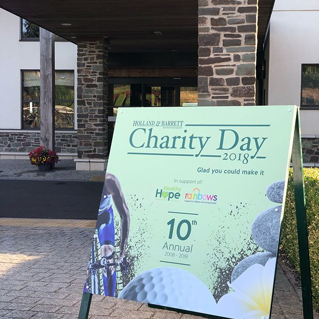 We're always honoured to host the annual @hollandandbarrett charity day and this year they supported the wonderful Healthy Hope & @rainbowshospice charities.  From a wonderful round of golf at the spectacular @thecelticmanor to a evening dinner filled with the best entertainment and food.  And to top it all off, we were blessed with glorious sunshine!  A day that won't be forgotten anytime soon!  #EnjoyGivingSomethingBack #fundraiser