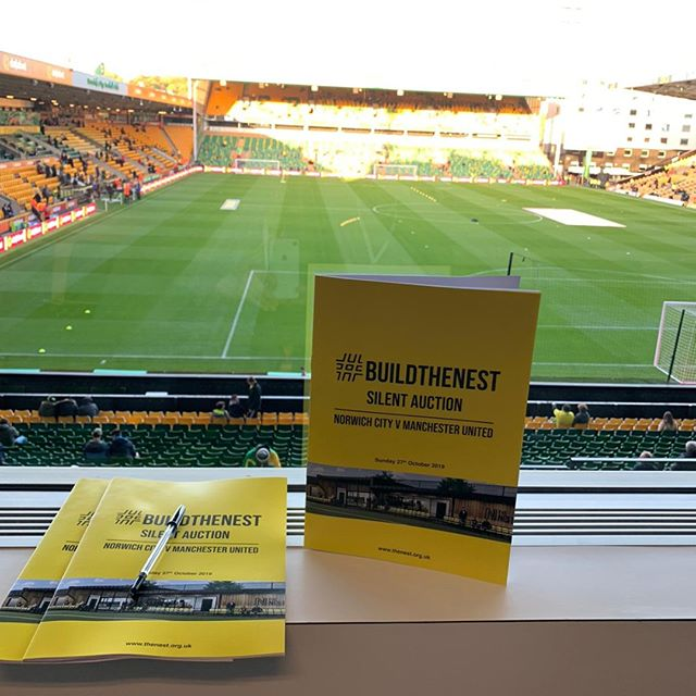 This past weekend we facilitated the silent auction at @norwichcityfc for their #buildthenest campaign. View our link in bio to find out how we can make your campaign or foundation thrive!