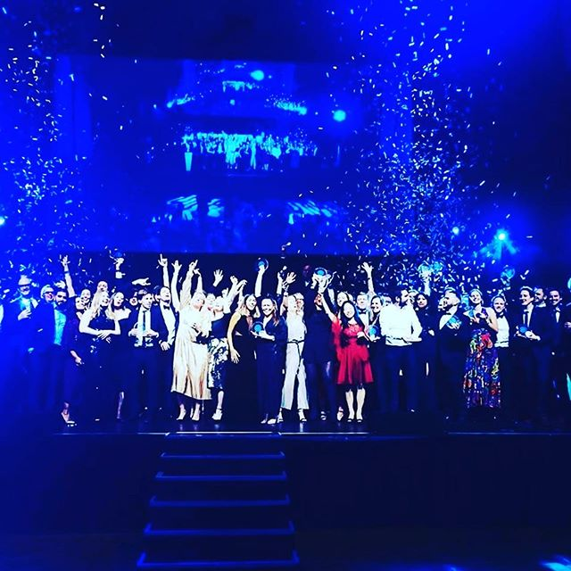 """Congratulations to @givergyevents – the silent auction technology provider. They took home the award for """"Best Use of Technology for Audience Participation"""" at the @eventtechawards last week. #ETAwards19 #silentauction #fundraising"""