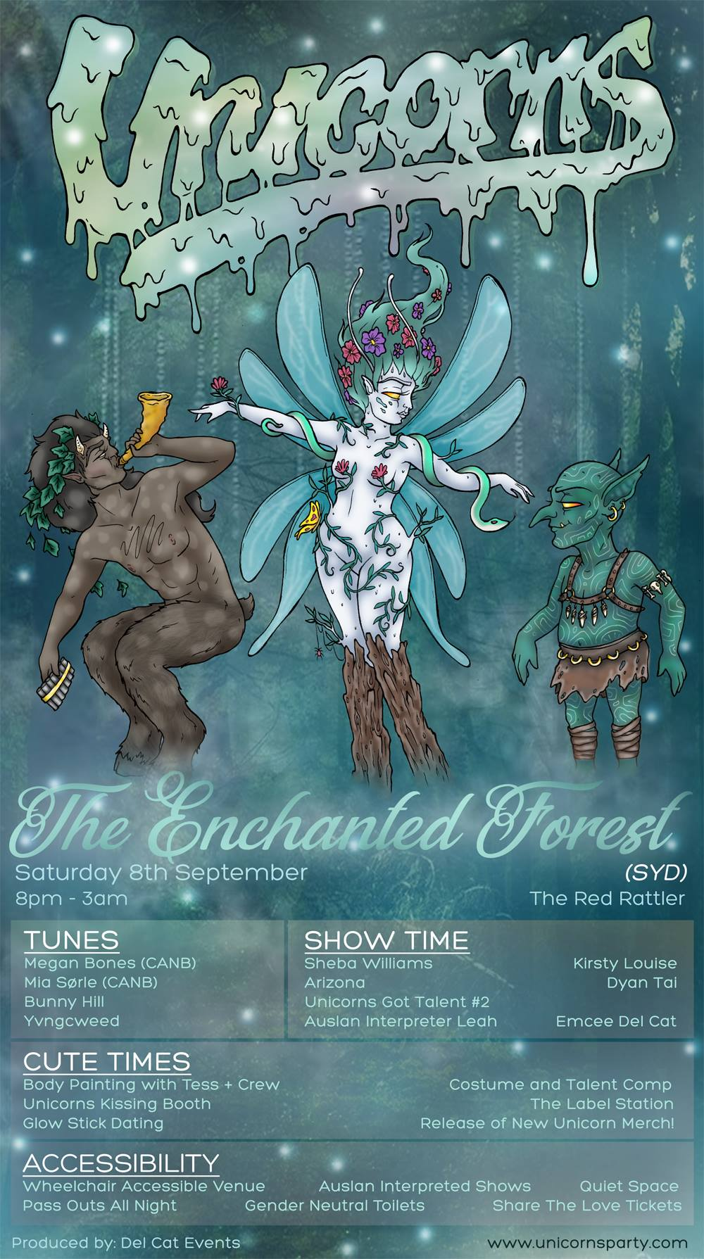Unicorns - The Enchanted Forest (SYD) - Saturday 8th SeptemberThe Red Rattler8pm - 3amTIX - SOLD OUT
