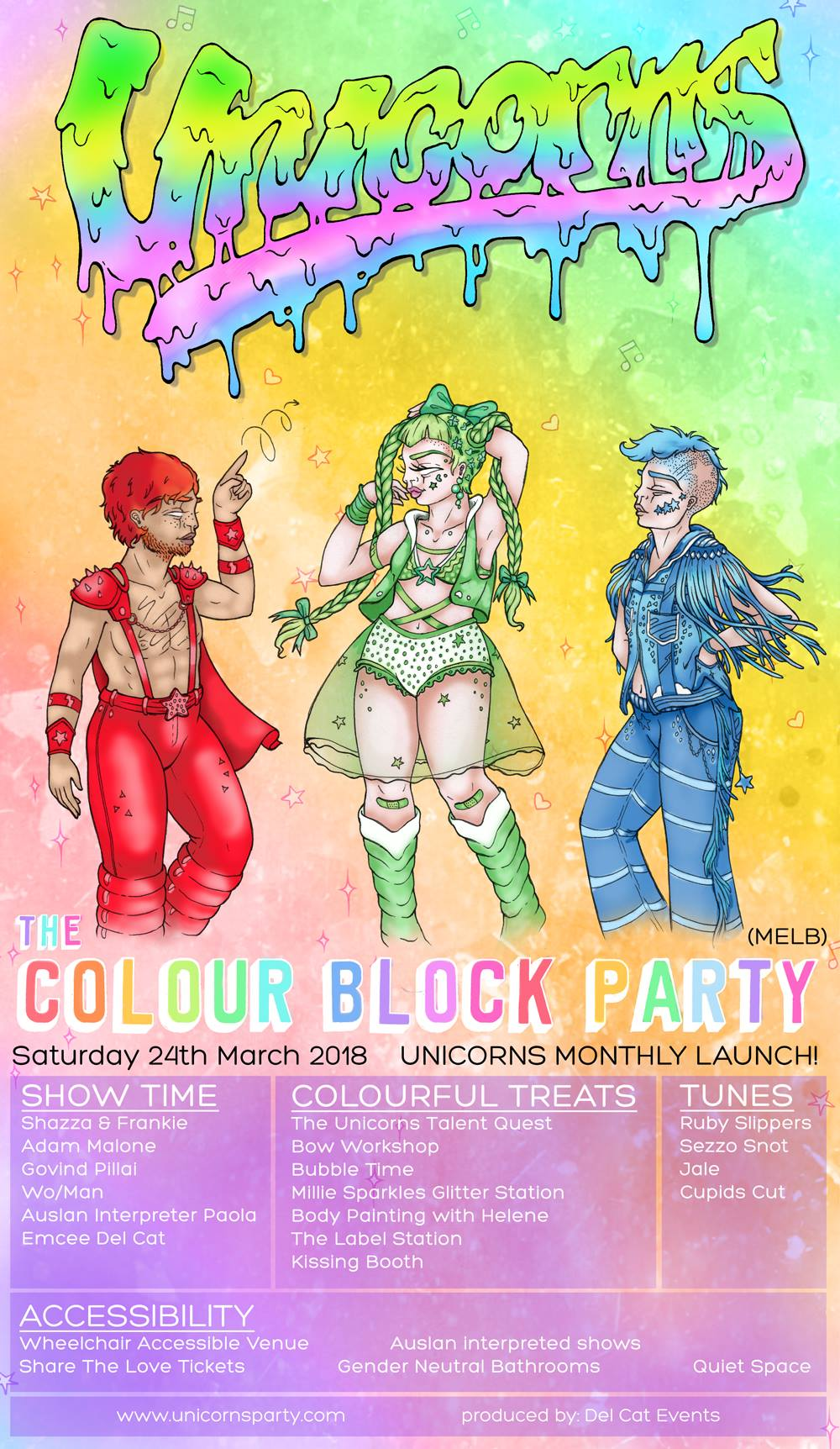 Unicorns - A Colour Block Party (MELB) - Saturday 24 March 2018Rubix Warehouse8pm - 3amSOLD OUT