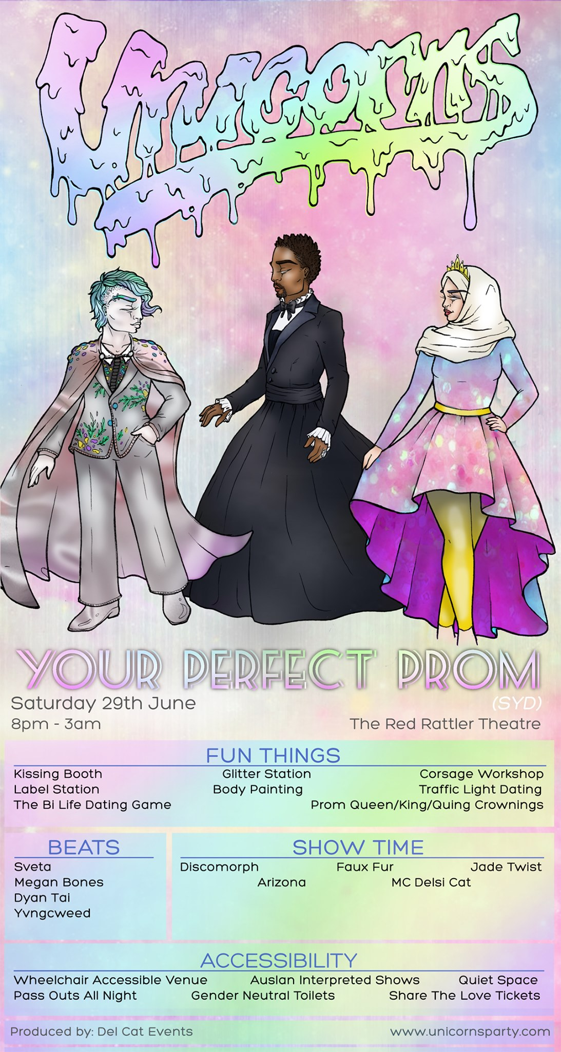 Unicorns - Your Perfect Prom (SYD) - Saturday 29th June8pm - 3amThe Red Rattler TheatreSOLD OUT