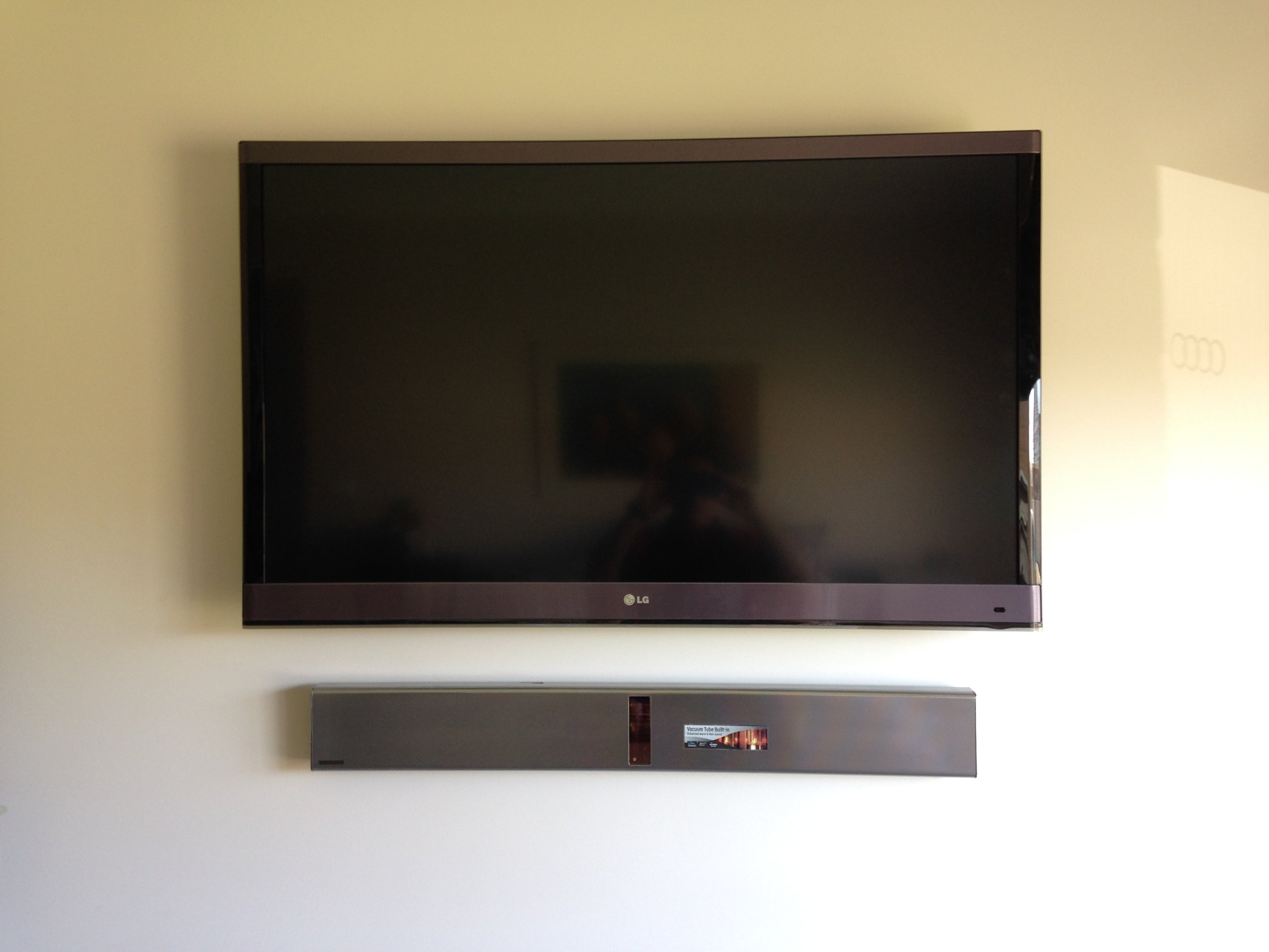 TV wall Mount and Sound Bar.JPG
