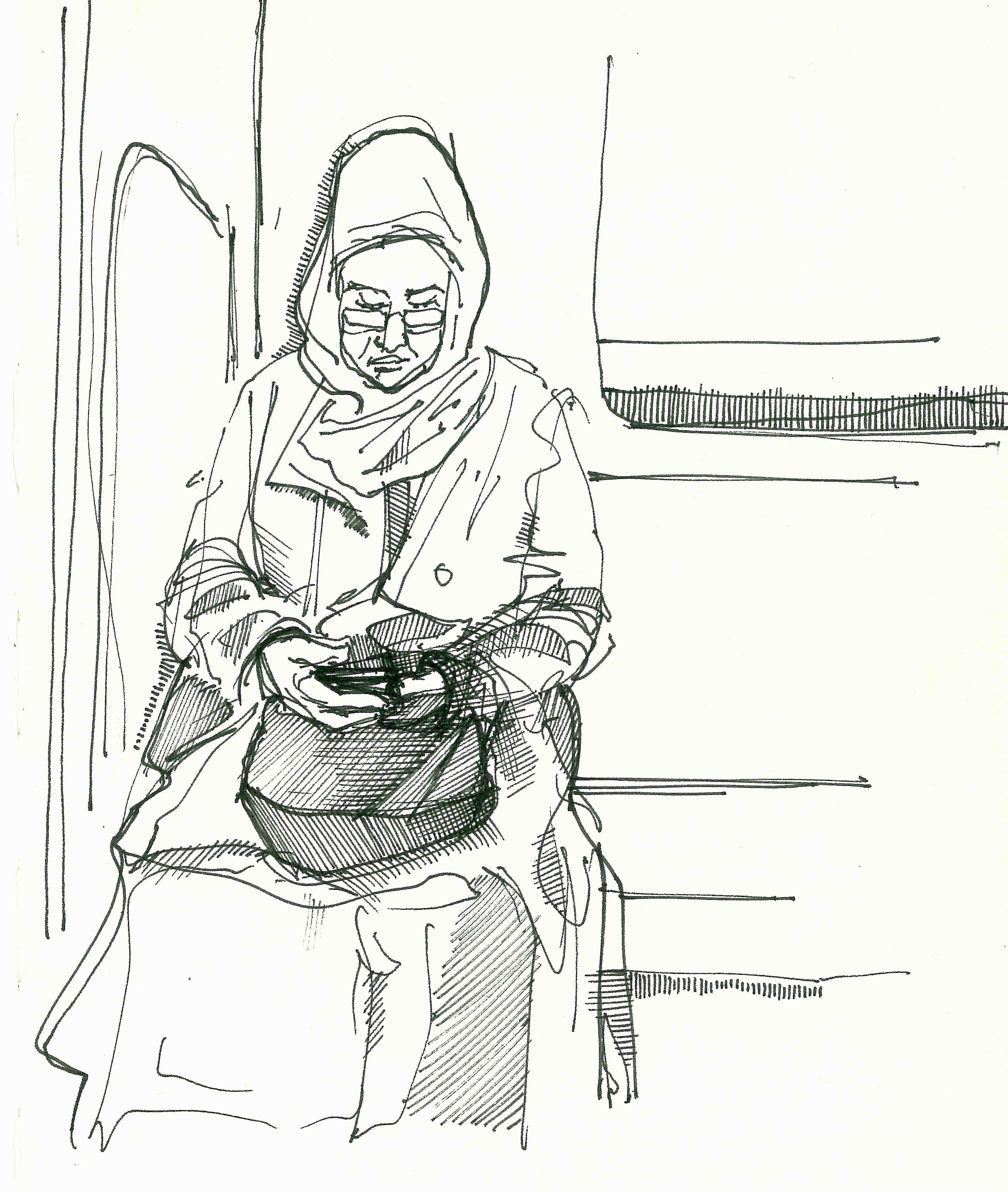 Woman on the U-Bahn