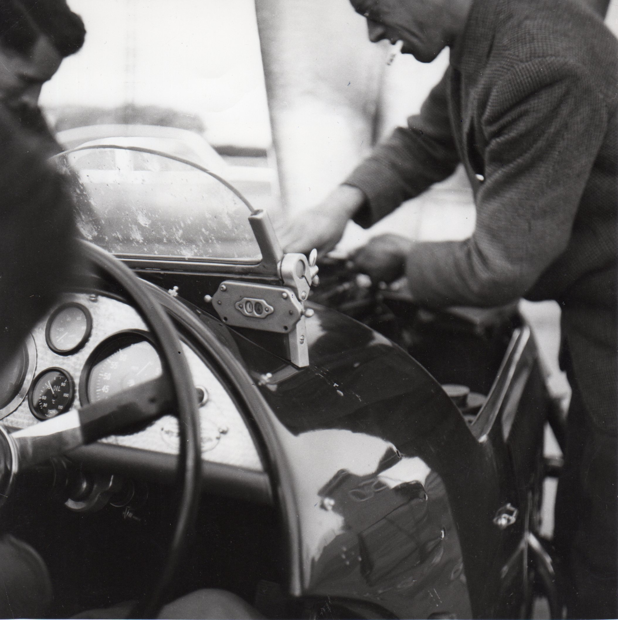 John Dennis working on the Frazer Nash