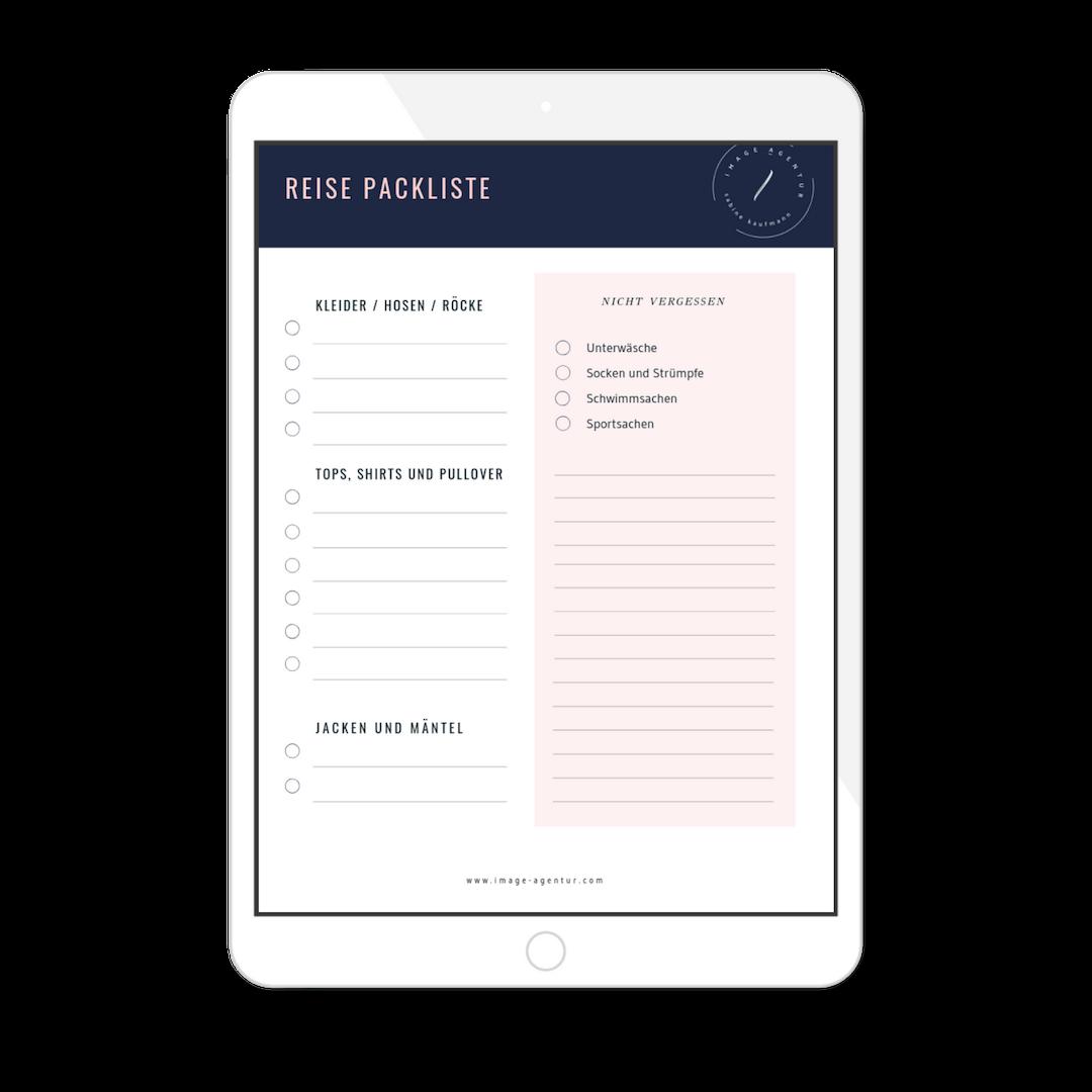 Deine Reise Packliste - Damit du vor dem Koffer nicht verzweifelst, habe ich dir eine Packliste zum Download vorbereitet. So denkst du an alles, was für dich bzw. euch wichtig ist.