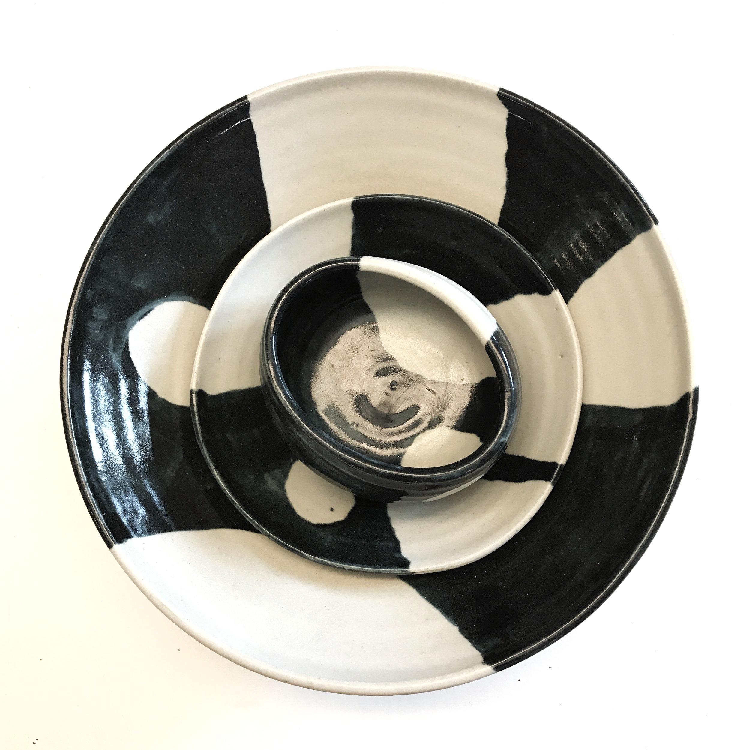 Stoneware bowls small 150mm, medium 180mm and large 320mm diameter