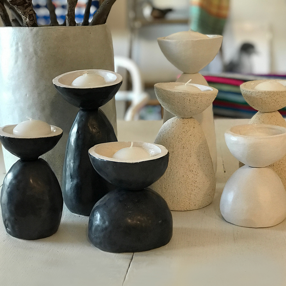 Candle holders various sizes