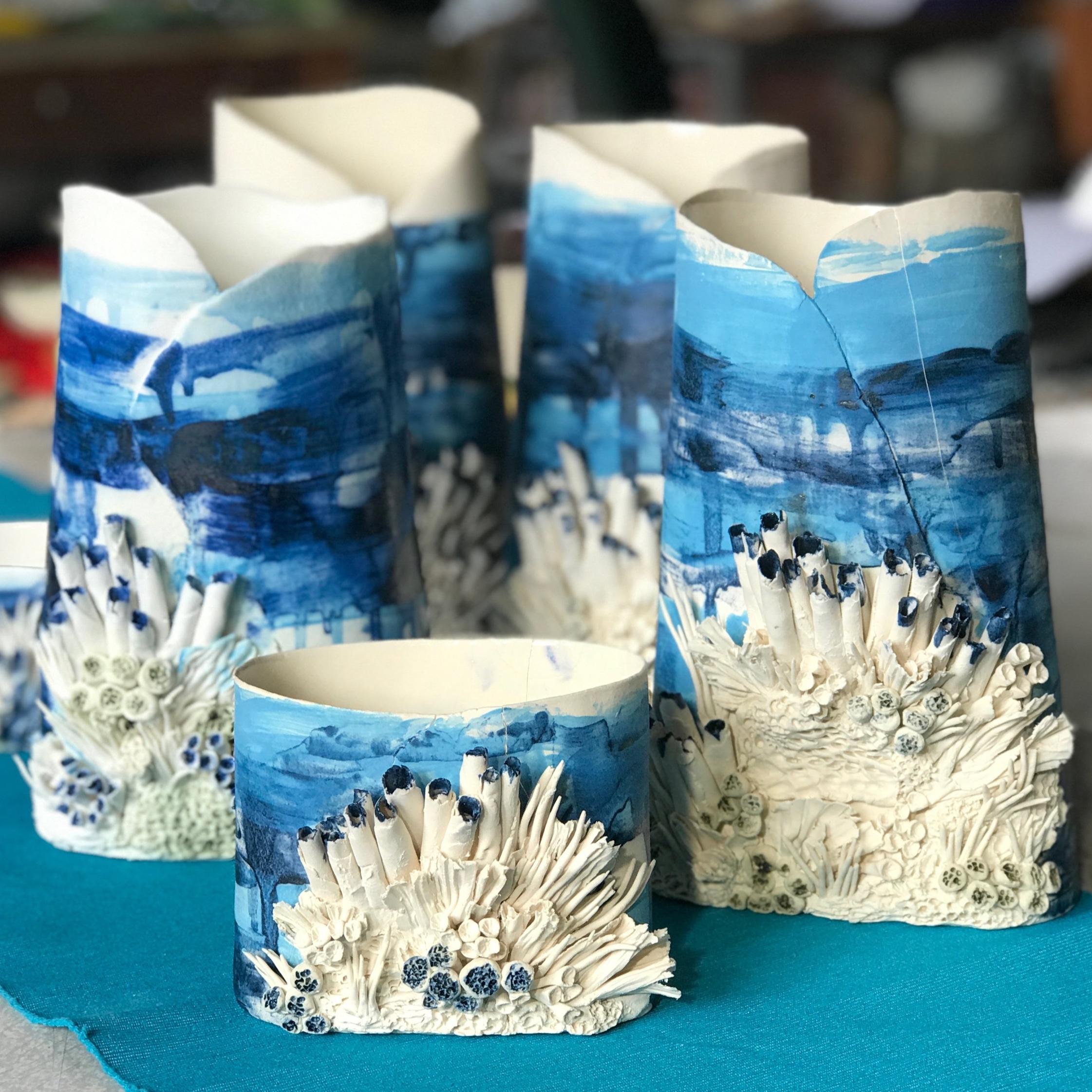 Works by Blaithin Lennon for The Bakehouse Studio Christmas Sale