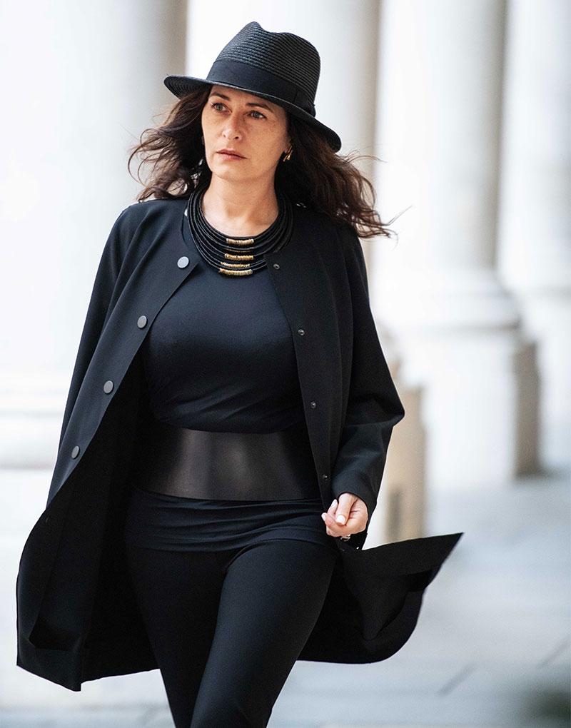 Wearing THE 6 coat, long sleeve top & leggings.