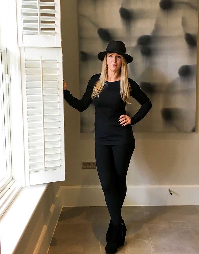 Chic & Casual - Cassandra feeling chic whilst having a few days in the city and feeling great about what she is wearing.Cassandra is wearing THE 6 leggings and THE 6 long sleeve top(Below from Left) Cassandra is wearing THE 6 coat as a dress. THE 6 laser-cut top, with THE 6 sleeveless top & THE 6 leggings. THE 6 tube Dress.