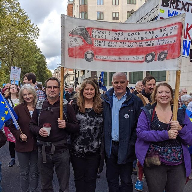 We were so noisy they could hear us in Parliament! #PeoplesVoteMarch 💙💛🇪🇺